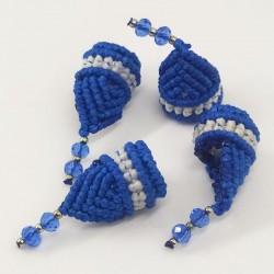 Macramé Dreadbead Blue Elf