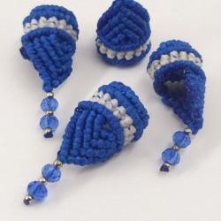 Abalorio macramé Duende Azul