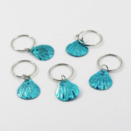 5 Abalorios Conchitas azules