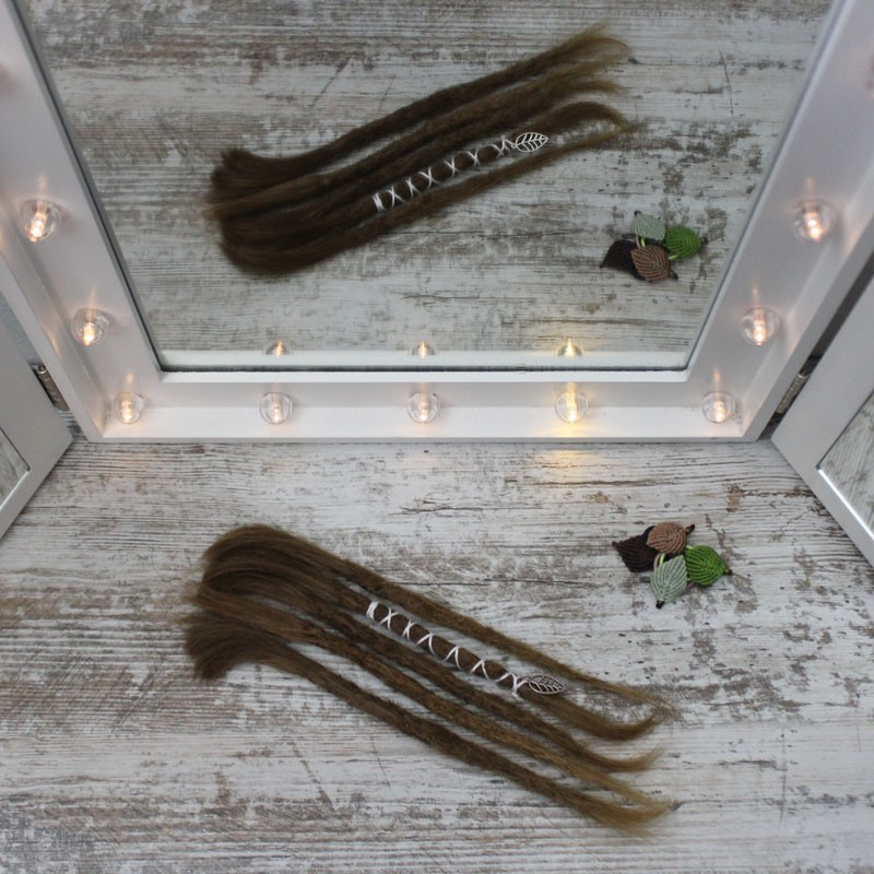 Muestra, extensiones de cabello natural Finas Cortas