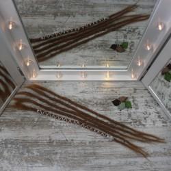 Muestra de 5 extensiones de rasta de cabello Natural Finas