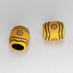 African ceramic bead, brown...