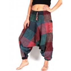 Pantalón harem patchwork