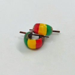 Rasta coconut earrings