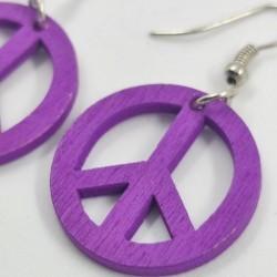 Peace in Wood Earrings