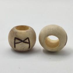 Abalorio Runa Vikinga Pirograbada en Madera