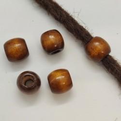 5 wood dreadbeads