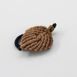Abalorio macramé pluma
